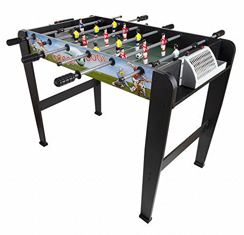Leomark World Cup Table de babyfoot Table en bois Jeu de Football, table de baby-foot, baby foot