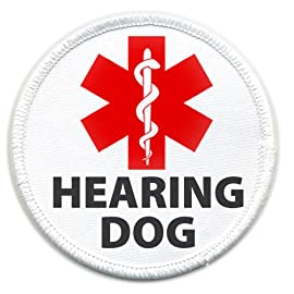 HEARING DOG Medical Alert 2.5 inch Sew-on Patch