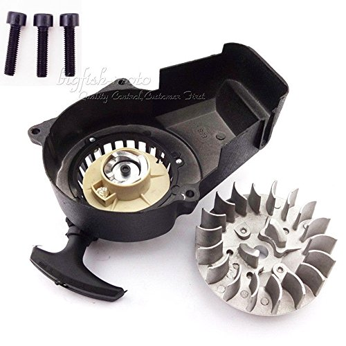 Flywheel Alloy Pull Start Starter 47cc 49cc Mini Scooter Kid Dirt Bike Quad ATV (Cheap Mini Dirt Bikes compare prices)