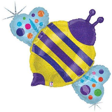 "36"" Bumblebee Holographic Helium Shape - 1"