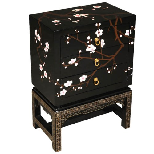 Image of EXP Handmade Asian Furniture - Black Lacquer Three-Drawer 26