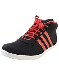 Drex Men's Black & Red Mesh Sneakers