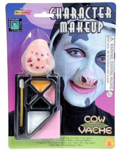 nose makeup. Cow Costume Makeup and Nose