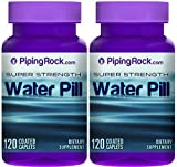 Super Strength Water Pill 2 Bottles x 120 Coated Caplets by Piping Rock Health Products