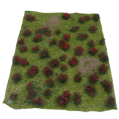 JTT Scenery Products Landscaping Details: Flowering Meadow Red, 5-7""