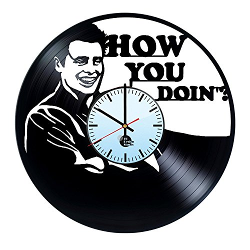 Friends-Joey-Handmade-Vinyl-Record-Wall-Clock-Fun-gift-Vintage-Unique-Home-decor-Art-Design-Retro-Interier