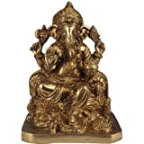 Lord Ganesha Granting Abhaya To His Devotees - Brass Statue