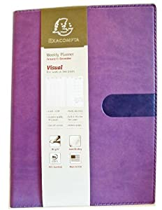 Exacompta Visual Texas 2014 Weekly Planner, Dec-Dec, VIOLET