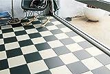 シンコール 住宅用クッションフロア Ponleum 白黒チェック 市松パターン ( 巾1.8m 長さ1m x ご注文数) 型番: E6037 03M