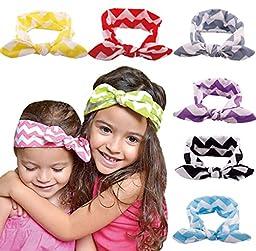 ZHW Baby Girl\'s Flower Headband Hairband Bow Big Flower (6 pack)