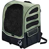 Pet Gear I-Go2 Plus Traveler Rolling Backpack for Cats and Dogs up to 25-Pounds, Sage