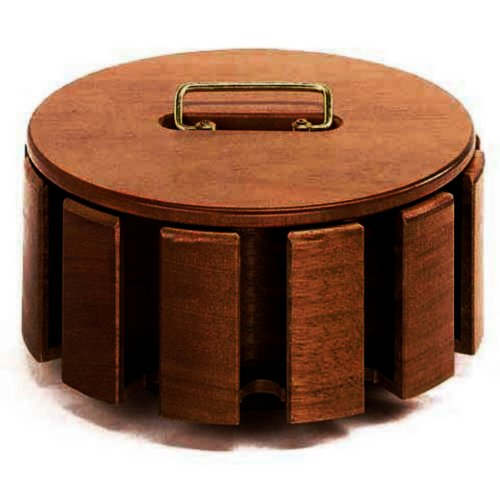 The Executive Wooden Carousel for 300 Poker Chips and 2 Decks of Playing Cards