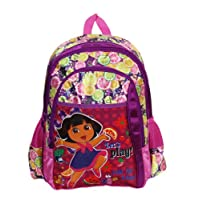 Dora The Explorer Purple Girls School Bag 16 Inches With Fiesta Trio