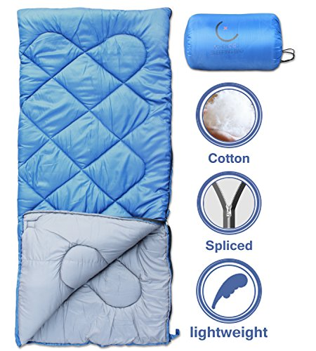 X-CHENG-Sleeping-Bags-with-Portable-Compression-Bag-32-Available-ECO-Friendly-Materials-non-toxic-non-polluting-Comes-with-a-complimentary-gift-blue