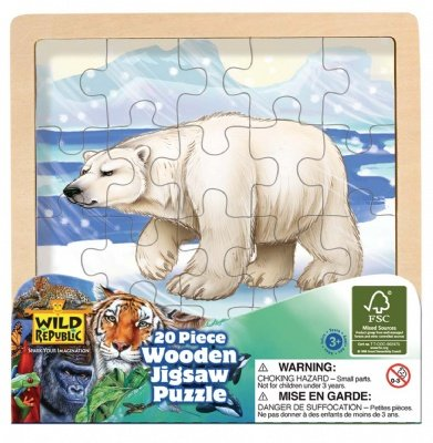 Picture of Wild Republic Wood Puzzle Polar Bear (B004TQ2JU0) (Jigsaw Puzzles)