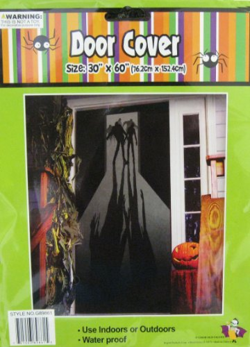 Halloween Door Cover Zombie Figures/Shadows