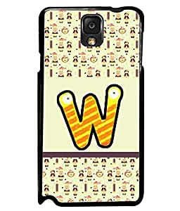 PrintVisa Metal Printed Alphabet Designer Back Case Cover for Samsung Galaxy Note 3-D5066