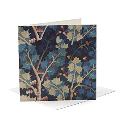 V&A Christmas Cards - Holly Tapestry (Pack of 10, Square)||RNWIT||EVAEX
