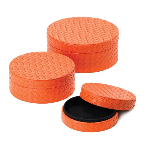 Orange Keepsake Box Trio - 1
