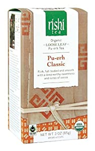 Rishi Tea Pu-erh Classic, 3-Ounce Box (Pack of 3)