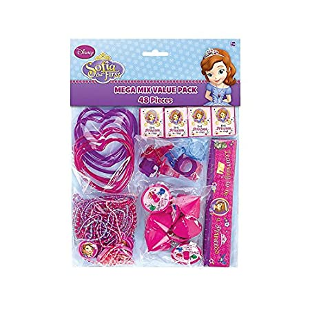 The Sofia the First Value Pack of Favors is a convenient way to get all of your party favors in one complete set. All of the favors feature Sofia the First theme with images of the characters from the show on all the items. This value pack is an amaz...