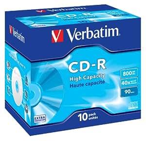 Verbatim CD-R 90 mn 40X 800 Mo Extra protection surface Jewel Case de 10