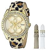 GUESS U0162L2 Women's Gold-Tone Dazzling Iconic Sport Box Set Watch