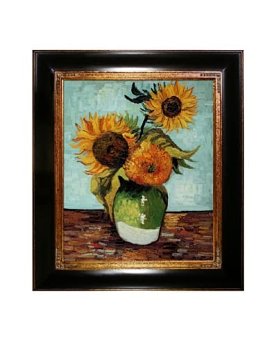 Vincent Van Gogh Sunflowers (First Version) Framed Oil Painting