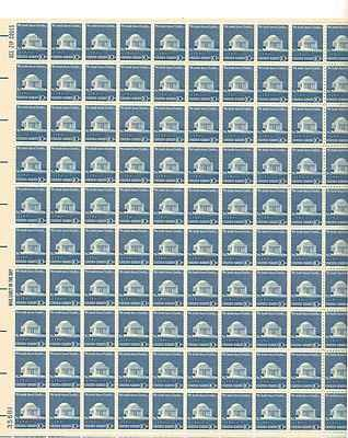 Jefferson Memorial Sheet of 100 x 10 Cent US Postage Stamps NEW Scot 1510
