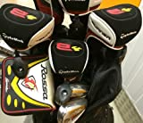 TaylorMade Mens Complete Golf Club Set Driver, 3 and 5 Fairway Woods, Irons, Putter, Stand Bag Taylor Made RH Gents Regular Flex Clubs