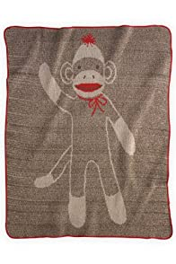 Green 3 Apparel Recycled USA-made Sock Monkey Throw (Medium)