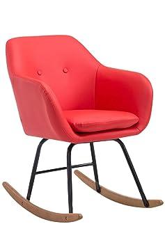 Sedia a dondolo avalon rosso