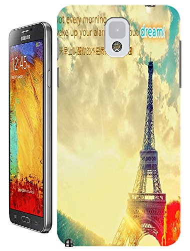 Beautiful Eiffel Tower Paris Fashion Cell Phone Cases Design For Samsung Galaxy Note 3 No.8 front-983191