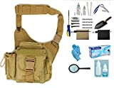 Treasure Hunters Discovery Coyote Tan Sling Pack & Metal Detecting 22 Pc Accessory Kit