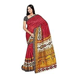SareeShop Women's Saree with Blouse Piece Saree (Bhagalpuri1079_MultiColored _Free Size)
