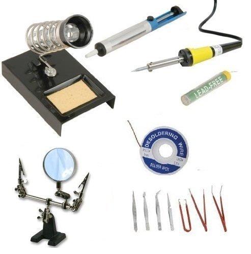 sivitec-soldering-iron-starter-kit-7pcs-tweezer-set-helping-hands-desoldering-pump-stand-and-solder