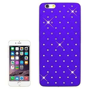 Bling Diamond Plating Skinning Plastic Case for iPhone 6(Purple)