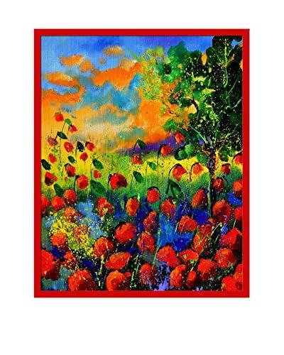 Pol Ledent Red Poppies Framed Canvas Print