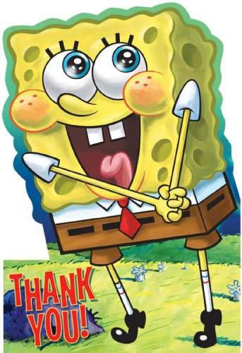 SpongeBob Squarepants Thank You Cards