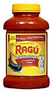 Ragu Pasta Sauce, Old World Style (New Recipe), Meat, 45 oz