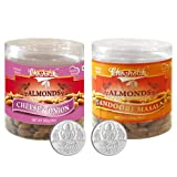 Chocholik Dry Fruits - Almonds Cheese Onion & Tandoori Masala With 5gm X 2 Pure Silver Coins - Diwali Gifts -...