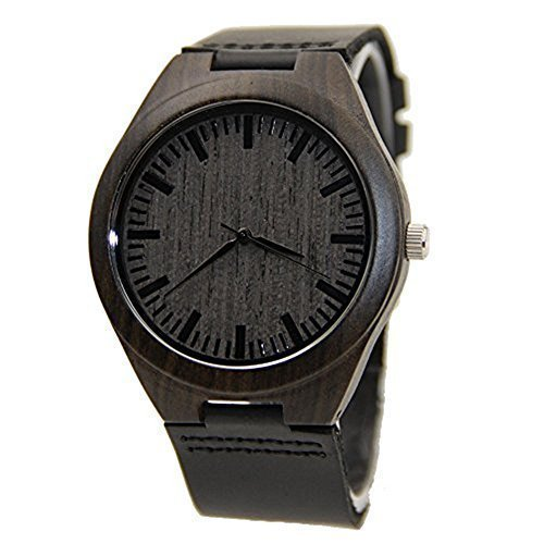 mercimall-mens-black-wooden-watch-with-leather-strap-original-grain-wood-watches