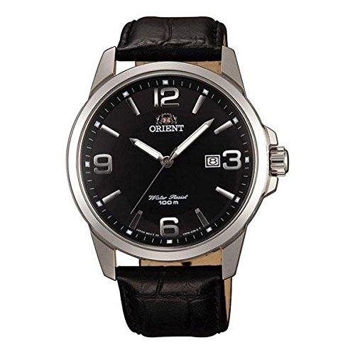 Orient FUNF6004B0 41.5mm Stainless Steel Case Black Calfskin Mineral Men's Watch