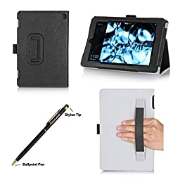 Fire HD 7 Case (4th Generation, 2014 Release) - ProCase Stand Folio Protective Cover Case for New Amazon Fire HD 7 Tablet 2014 Edition (will only fit 4th Gen Fire HD 7, 2014 release), comes with bonus procase stylus pen (Black)