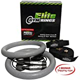 Heavy Duty Gym Rings with Straps and FREE Skipping Rope - #1 Highest Rated Gym Rings on Amazon - Total Body Workout and Awesome Reviews