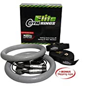 Top Quality Gym Rings with Straps and BONUS Skipping Rope - Crossfit Strength Training and Bodyweight Training Equipment