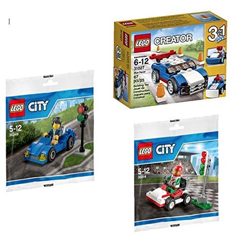 LEGO Ultimate Driving Bundle 3-Sets - City Go-Kart 30314, City Race Car 30349, and Creator 3-in-1 Blue Racer 31027 (Cars 1 Racers compare prices)