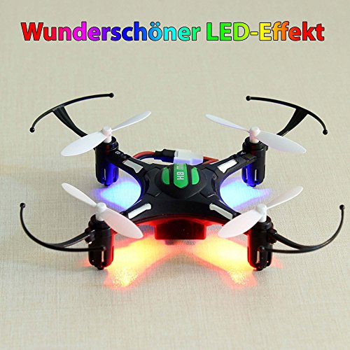4-Kanal-24GHz-RC-ferngesteuerter-mini-Quadrocopter-PRO-Edition-mit-One-Key-Automatic-Return-und-Headless-Technik-Rotorenschutz-6-axis-Gyro-3D-Loopings-Komplett-Set-inkl-2x-Akku-und-Ersatzteil-Set