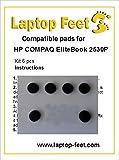 Laptop Feet for HP Compaq EliteBook 2530P compatible kit (6 pcs self adhesive)