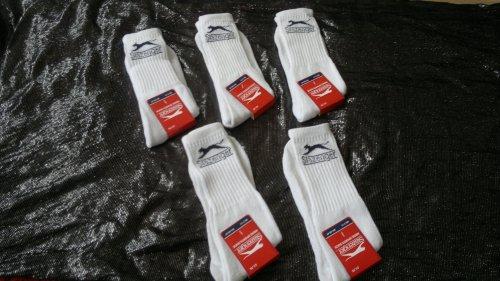 Slazenger Mens 5 x Pairs Sports Socks- WHITE